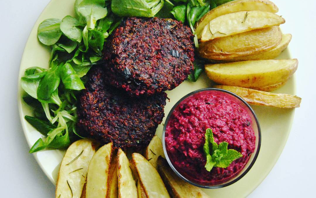 Quinoa Rote Beete Patties *glutenfrei und vegan