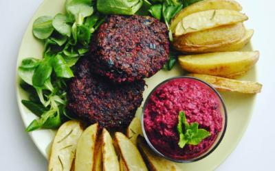 Quinoa Rote Beete Patties *glutenfrei und vegan