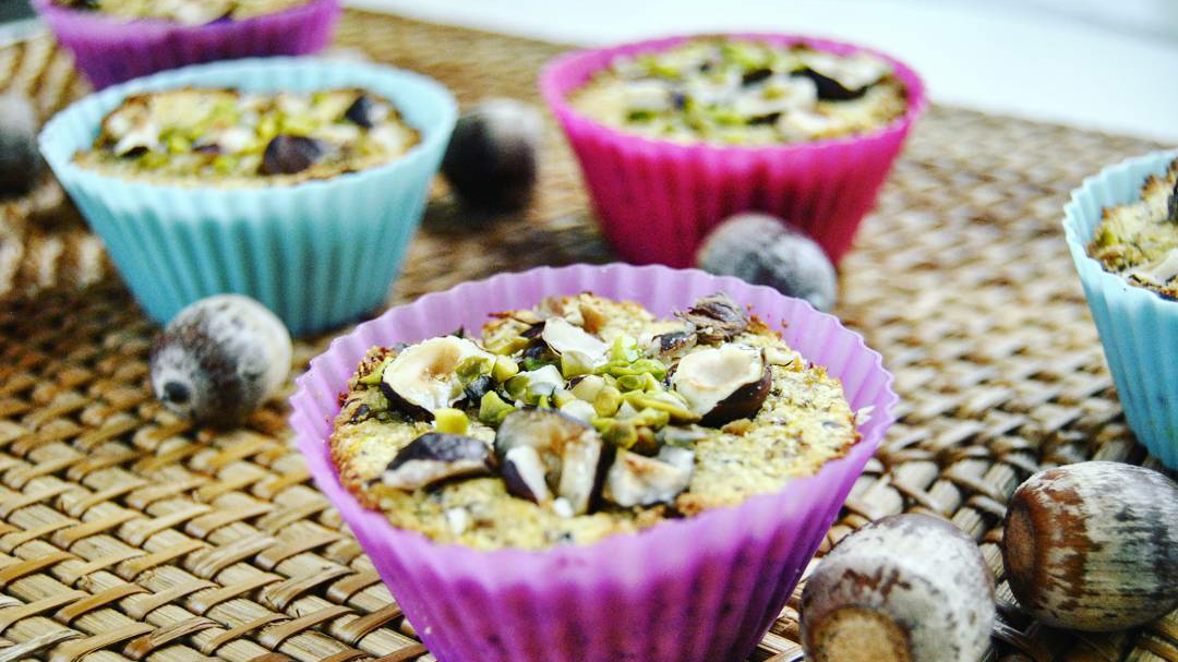 Kokos Haselnuss Muffins low carb und vegan