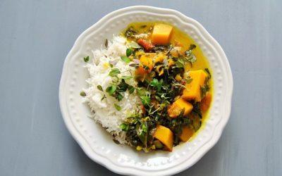 Ayurvedisches Spinat Curry