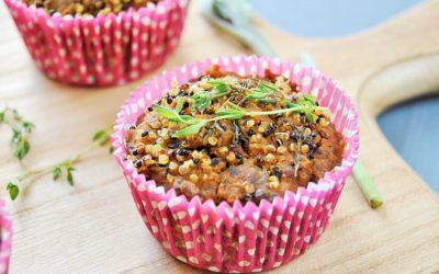 Herzhafte Süßkartoffel Quinoa Muffins mit Salbei