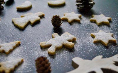 Weihnachtliche Ghee Plätzchen mit Safran