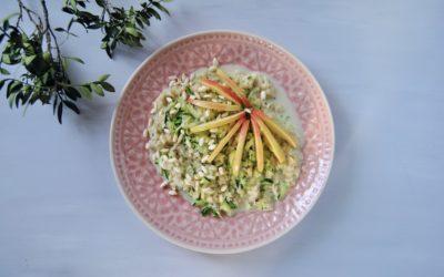 Ayurvedischer Zucchini Porridge mit Apfel