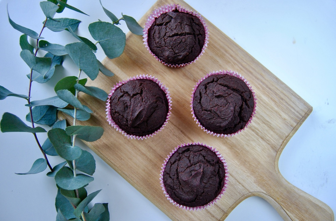 Rote Beete Dattel Muffins