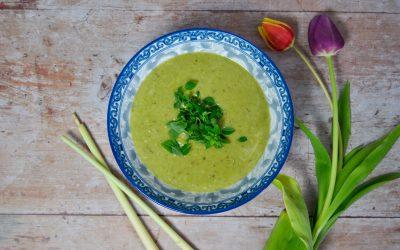Spargel Zitronengras Suppe